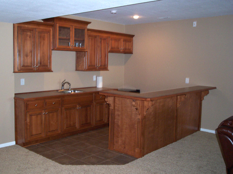 Bat Kitchen With Snack Bar Fluted Trim Accents Wood Corbels