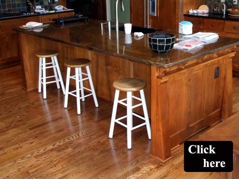 Mission Style Kitchen Island Cabinets