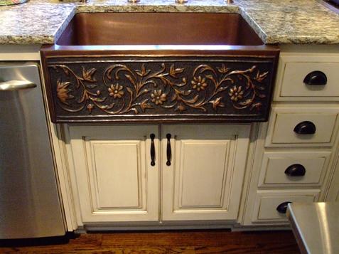 Custom Kitchen Cabinets – Glazing – Antique Finish - Custom Kitchen Cabinets - Glazing Finish - KC Wood
