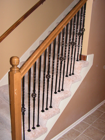 Awesome ... Basement Rail With Iron Spindles