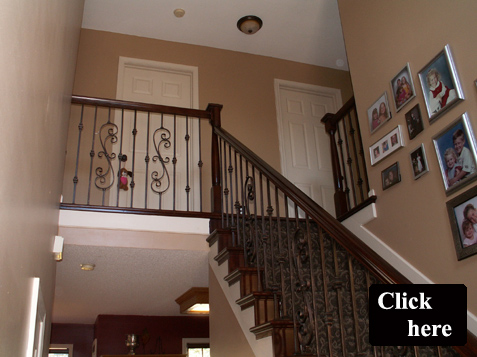 Overland Park Home Increases In Value When Homeowner Adds Iron Spindles And Wood  Stair End Caps To The Staircase