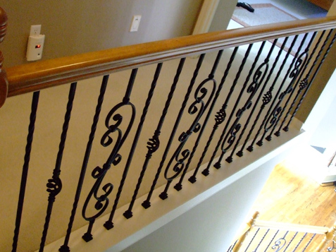 Iron Balusters replacing wood spindles