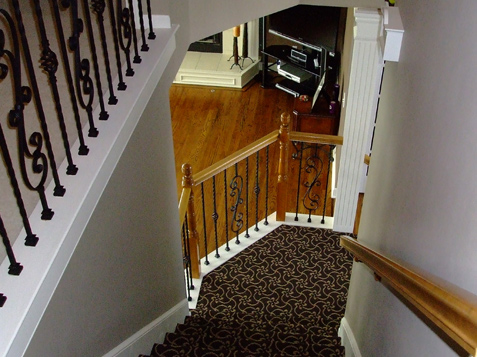 Iron Spindles on Stair Landing