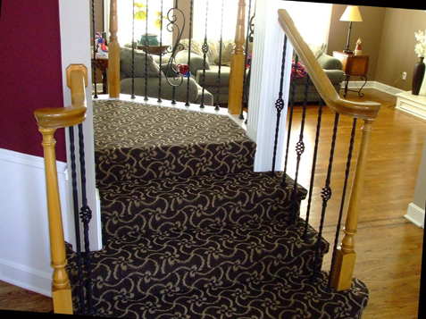 Double Turnouts introduce Staircase with Iron Balusters