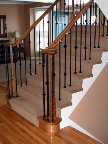 Staircase Update Iron Spindle Replacement Kc Wood
