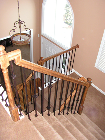 Replace Wood Spindles with Iron Overland Park Kansas