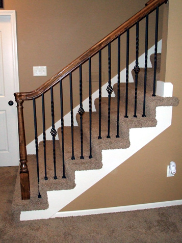 Replace Wood Spindles With Iron Baers