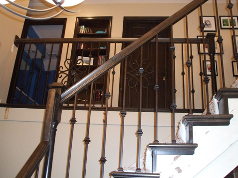 Iron Spindles With Decorative Panel ...