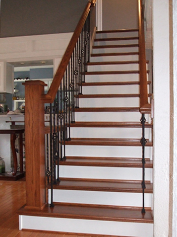 Exceptionnel Staircase With Old Spindles And Dated Look, Updated Staircase