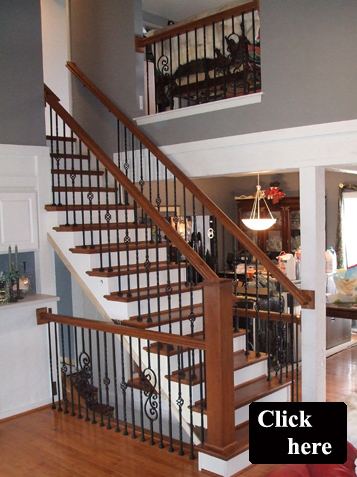 Staircase Transformation U2013 New Solid Oak Treads, Iron Spindles, New  Fashionable Handrail, New Stair Post