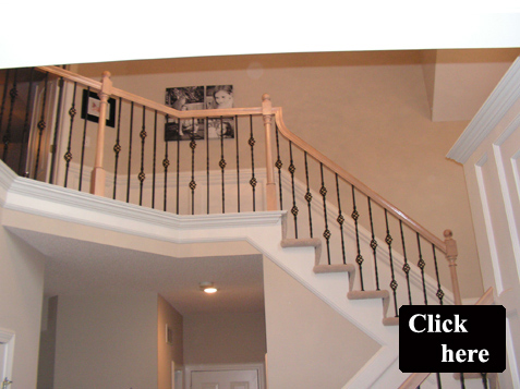 Wood Spindles Replace With Iron Baers Wrought Bars