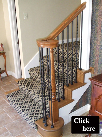 Wood Staircase Spindles And Balusters, Iron Spindle Replacement Olathe And  Wood Stair Treads End Caps