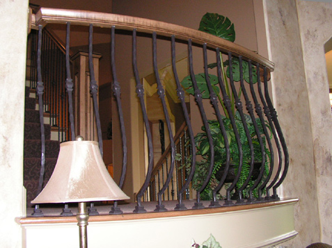 Iron Spindles - Custom Curved Design