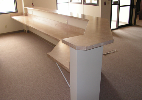 Reception Counters And Plam Kitchens