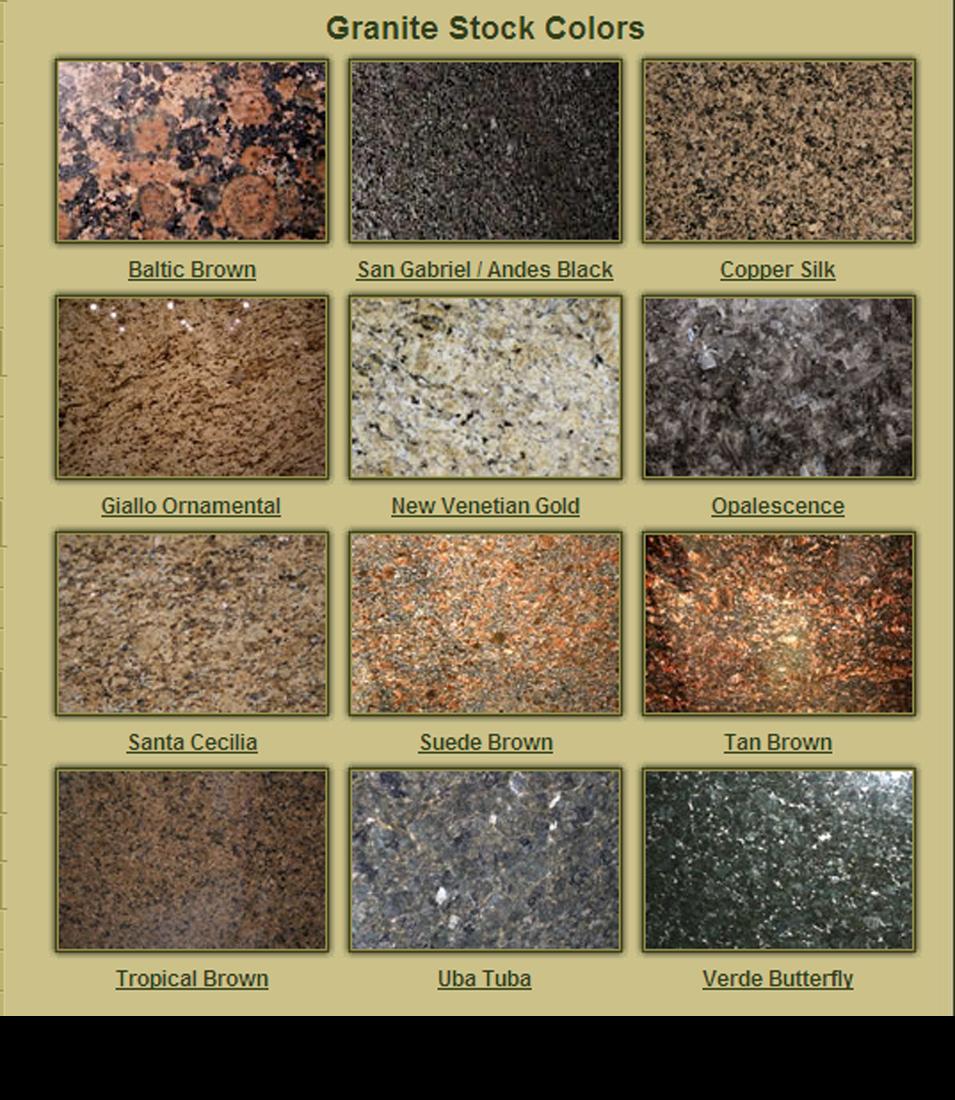 Granite - Stock Colors