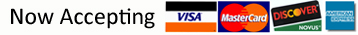 accepts MC Visa Discover American Express for Iron Spindles