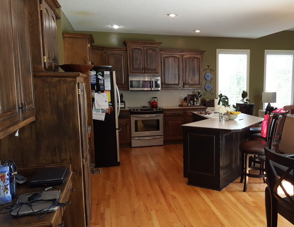 Kitchen Cabinetry Reface with New Island, Mud Bench ...